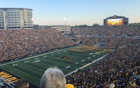 This is Iowa City's Kinnick Stadium last year during a regular season game.