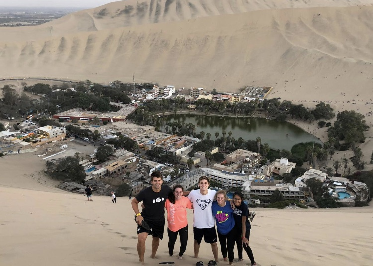 Teacher Brett Ahlgren and PVHS Students (left to right) Bell Lubken, Carter Cline, Kayla Nutt and Ramya Subamaniam on their mission trip to Peru this August.