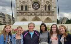 Stephanie Risius and her students made a stop at the Notre Dame de Paris.