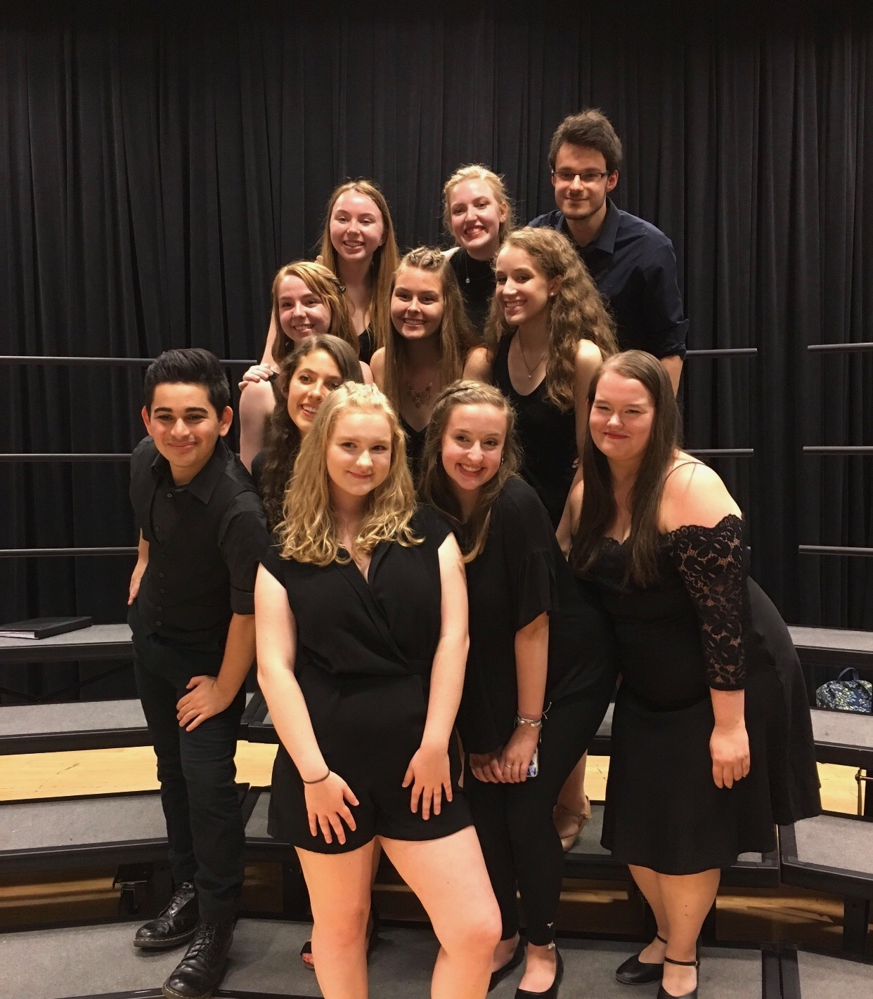 "Amy Oberheart and her ""core"" group at the Boston Conservatory summer program"