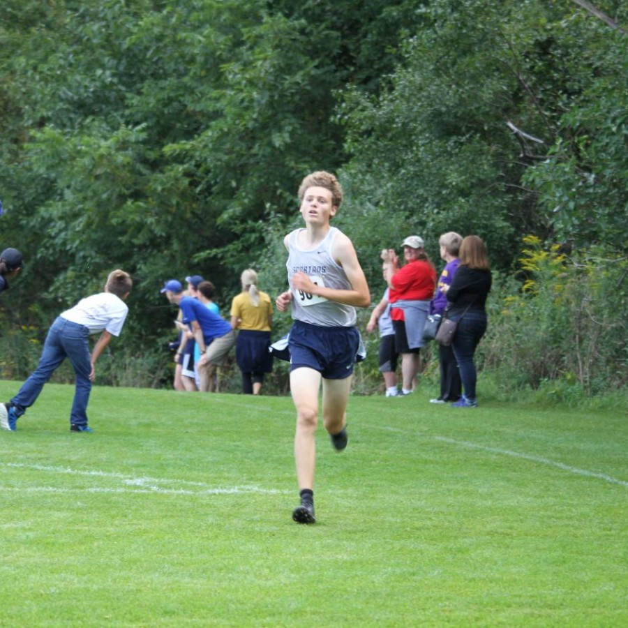 Max Murphy finishes his first race of the 2019 Cross country season.