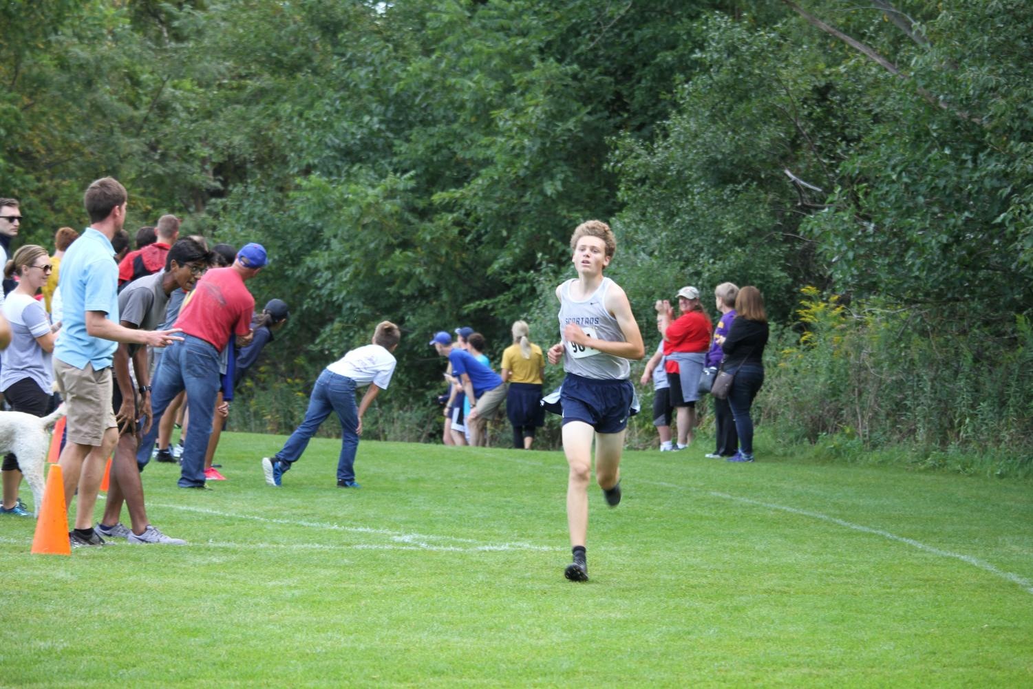 Max Murphy finishing up his first race of the season