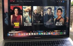 Netflix, one of the leaders of the streaming industry, displays its original content on its home page.