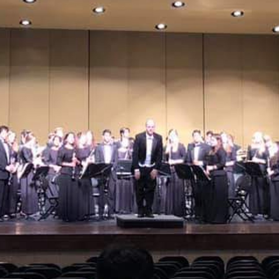 The Pleasant Valley Wind Symphony band performs at the 2019 State Large Group Festival