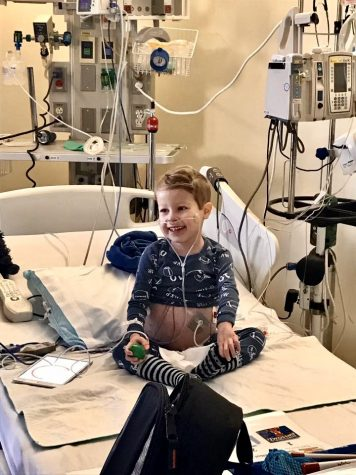 Will Kohn, the first patient in the new University of Iowa Stead Family Children's Hospital, never failed to keep a smile on his face, even during treatment.