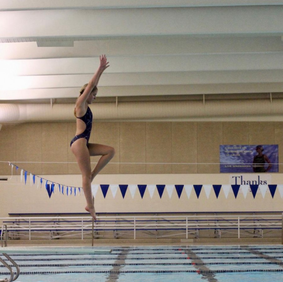 Emily+Clark+practices+a+dive+by+herself+during+a+practice+earlier+this+week.