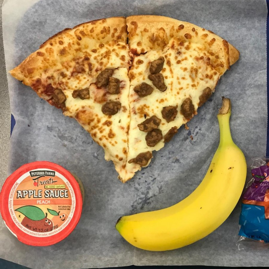 One common meal students get every Wednesday when pizza is served.