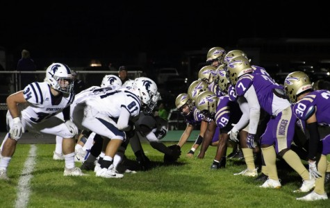 The Muskies attempt to block PV's extra-point kick.