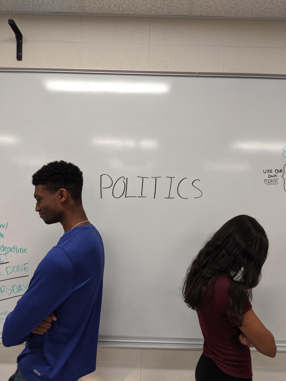 Students Sakshi Lawande and Chris Cumberbatch turn away from politics.