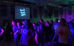 Band members celebrate by dancing at Band Bash.
