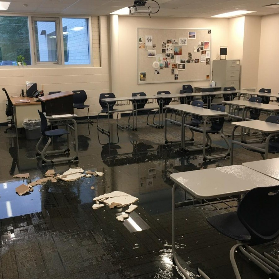 The+damage+done+to+Terronez%E2%80%99s+classroom+on+Tuesday+morning.%0A