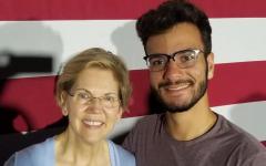 Gui Pinho meets presidential candidate Elizabeth Warren.