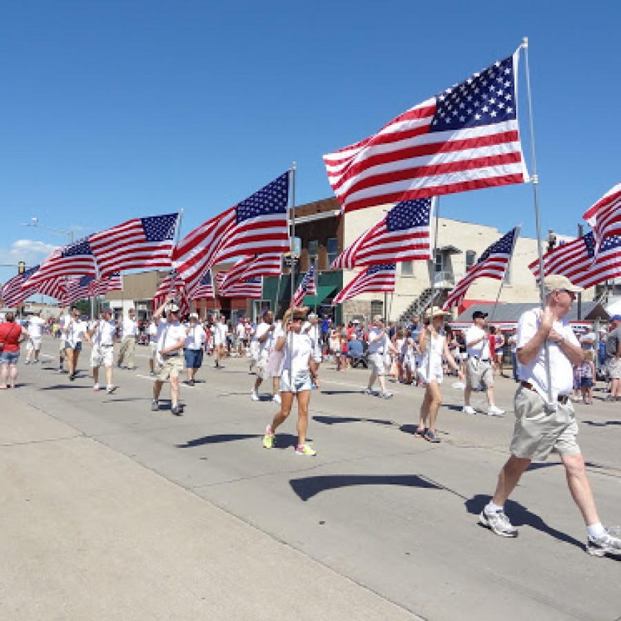 Veterans march in the annual 4th of July parade to honor those who have sacrificed their lives for their country.