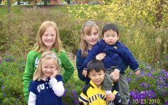 Siblings Delaney, Hayden, Kaitlyn, Brady and Griffynn Evans pictured together at a park in Des Moines, Iowa.