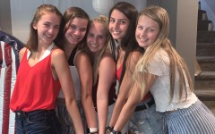 One girl group, from left to right, Maddy Licea, Karleigh Nading, Abbey Wehrheim, Courtney Mohr, and Reese Lieneman.