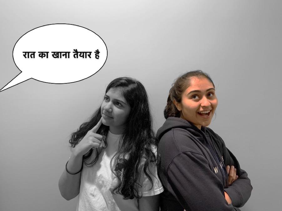 Niyati Kulkarni (left) struggles to understand the language spoken, while her sister Ekta Kulkarni (right) is able to comprehend.