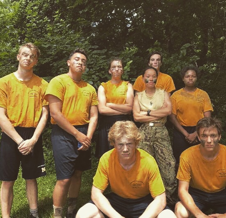 Senior Maria Vaaler and her squad train at a Naval Academy Summer Seminar.
