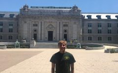 Will Rolfstad stands in front of the United States Naval Academy.