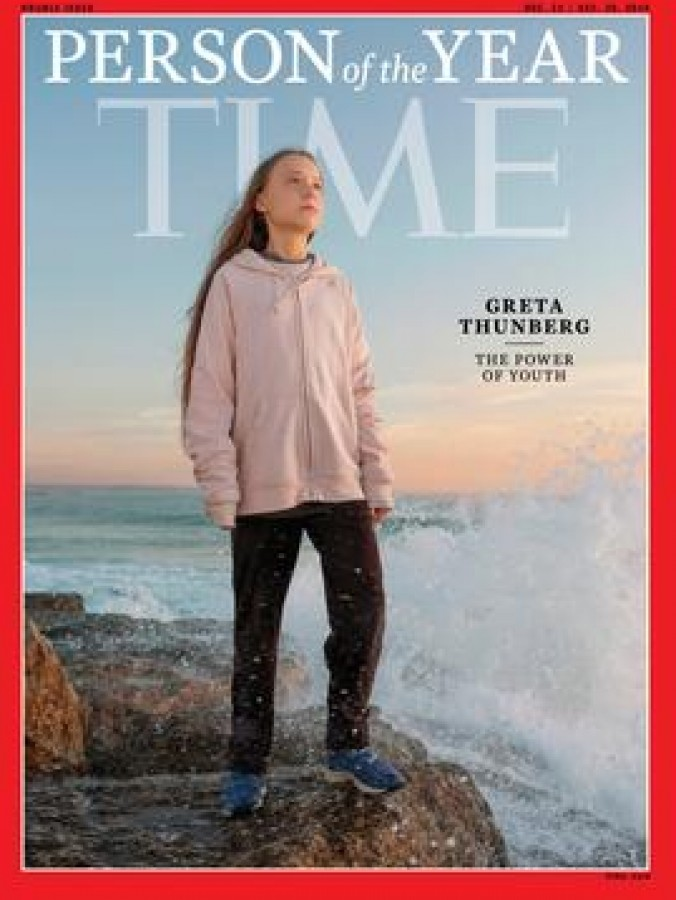 The cover of the 2019 TIME Person of the Year issue featuring Greta Thunberg.