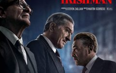 """The Irishman"" stars Robert De Niro, Joe Pesci, and Al Pacino on the film's poster."