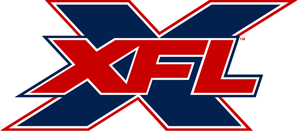 The XFL logo. The league has picked up popularity throughout this year.