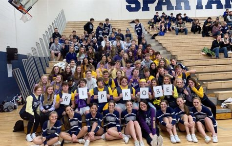 PV students honor the late Kobe Bryant with a purple and yellow theme at a basketball game. Students remained seated until PV scored their eighth point in recognition of Bryant's  jersey number for the first half of his career, eight.