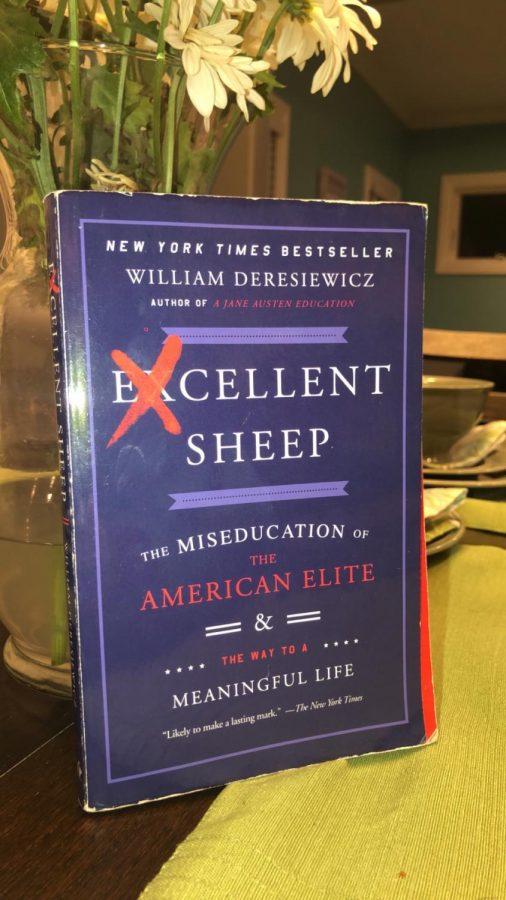 William Deresiewicz's Excellent Sheep displayed.