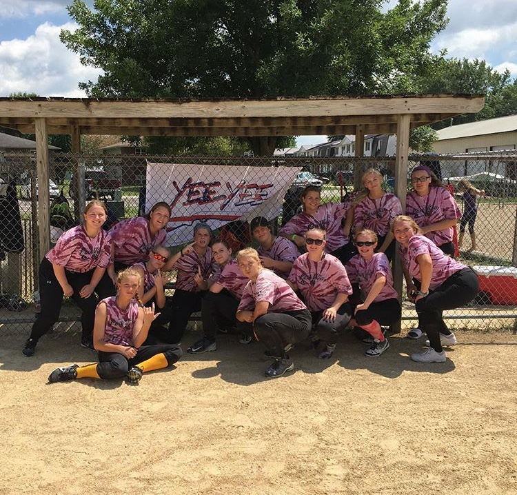 Megan Lopez (far left) and her team posing for a picture after placing third in the 2019 tournament.
