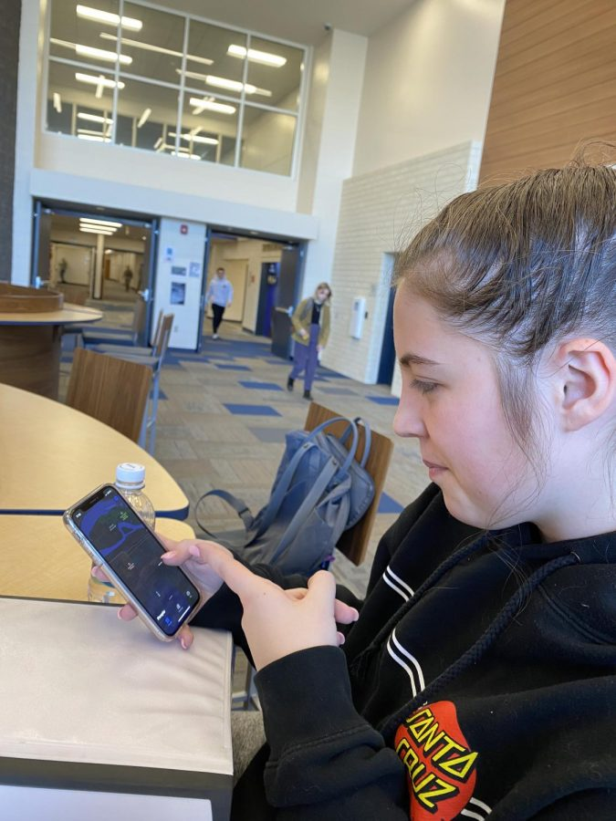 "Sophomore Mallory Hawkins uses a tracking app called ""Find my iPhone""."