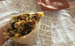 The popular Mexican fast food chain, Pancheros, serving vegan and vegetarian burritos with tofu in place of meat.