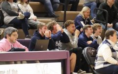 Super fans come to watch the girls basketball team play Muscatine at Muscatine on Feb. 19.