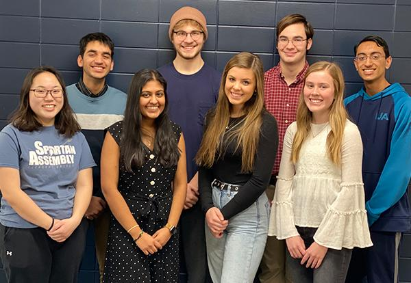 Eight PV seniors were announced as National Merit Scholarship Finalists on Feb. 20. From left to right Darsh Balani, Paul Malachuk, Joseph Murphy, Aditya Desai, Margaret Huang, Prakuti Pancholi, Grace Halupnik, and Maya Johnson.