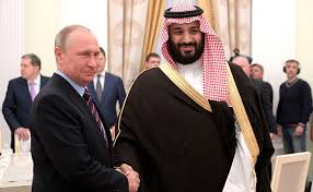 Crown Prince Mohammed bin Salman and Vladimir Putin in 2018, when economic relations between their respective countries were much stronger.
