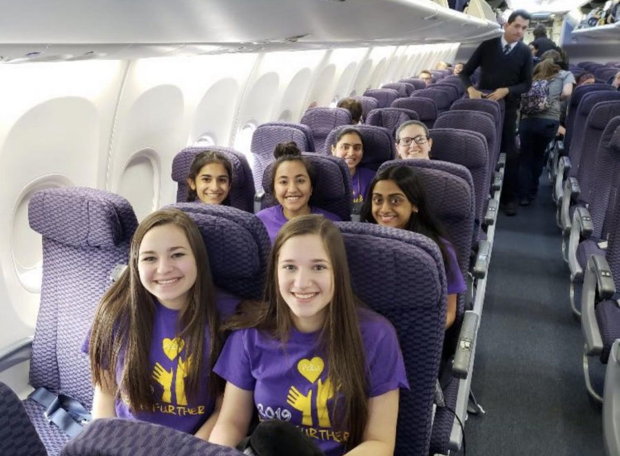 PV students travel via airplane to Peru in 2019.