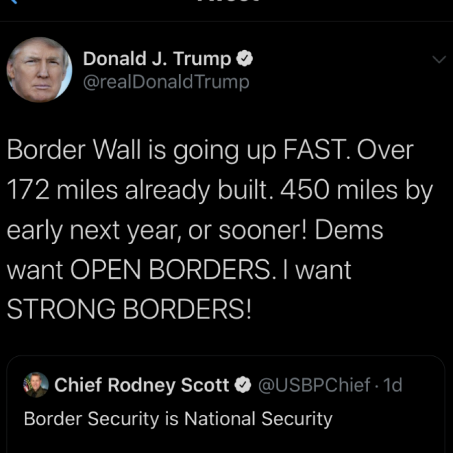In the midst of a global pandemic, President Trump is once again more focused on his racist agenda. The unethical nature of the wall is yet another showing of how America needs morals in politics.