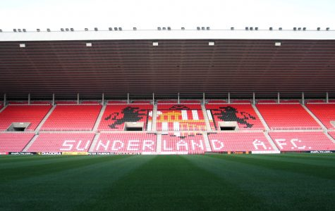 A stand at the stadium of light, the home of Sunderland A.F.C.