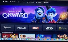 Disney Plus' homepage featuring one of its newest releases Disney·Pixar's Onward, one of the 2020 films that had its theatrical run cut short due to COVID-19