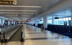 Vittoria Ripamonti walks through a nearly empty airport on her way home due to the Coronavirus.