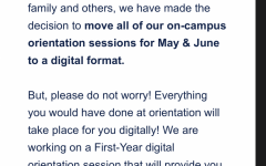The University of Arizona announces it will have online orientation and visits that will take place in May and June through an email sent to incoming students.
