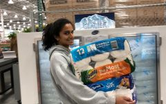 Senior Amulya Pillutla ships for toilet paper amidst a global pandemic, showcasing her quirky activities.