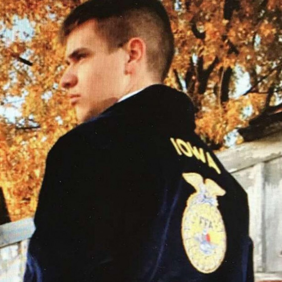 Cole Claussen earned his Iowa FFA Degree by taking Agricultural Classes at North Scott High School.