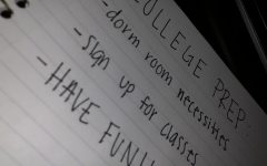 Students are beginning to create checklists to get ready for college.