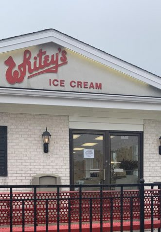 Whitey's Ice Cream reopens its doors on May 11, but has sign on the door stating that the lobby is closed.