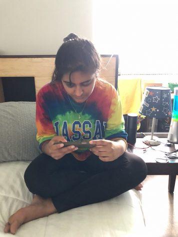 Senior Prakruti Pancholi uses Amazon Prime to stream her favorite TV shows.