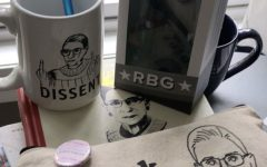 Maddy Licea's collection of Justice Ginsberg's fan merchandise