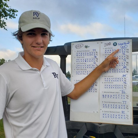 Jack Dumas sets a school record 65 on Sept. 1 against Muscatine at Palmer Hills.