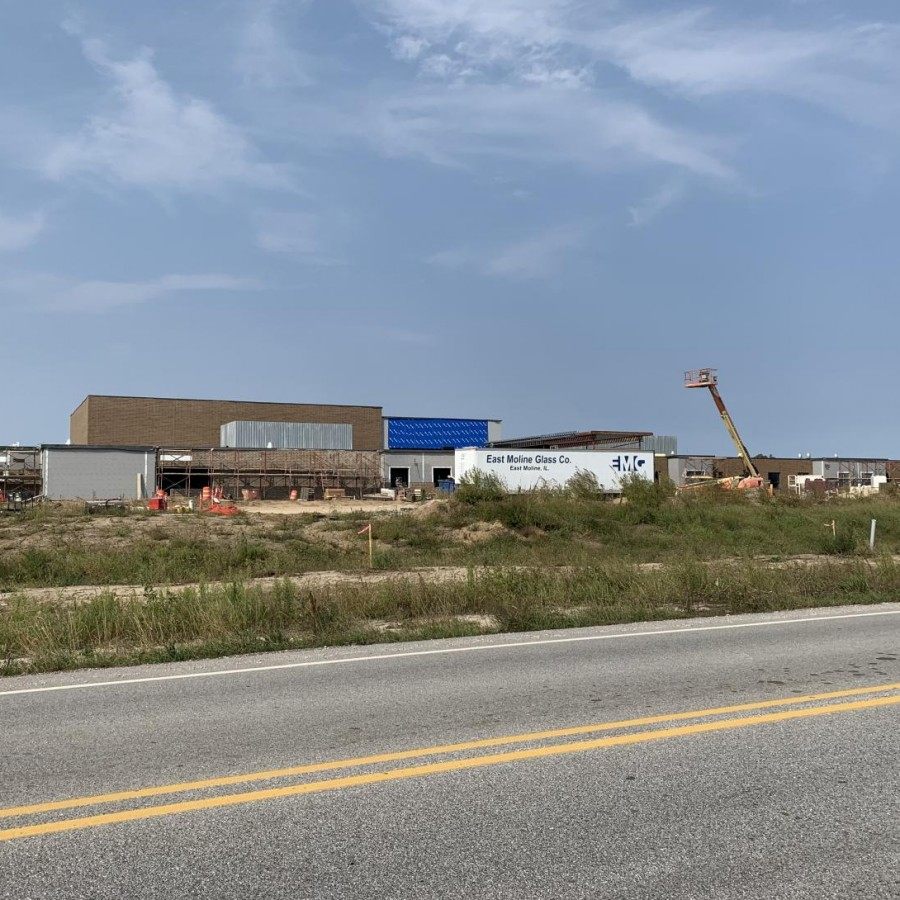 Current construction on Forest Grove Elementary