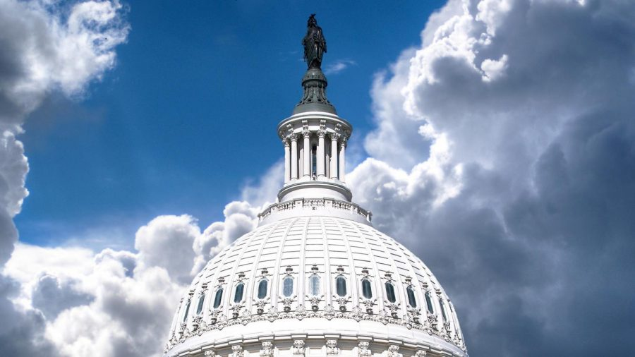 Picture of United States Capitol Dome: The United States Capitol sits empty while millions of Americans wait for financial assistance.