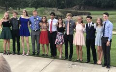 Senior Sarah Babka's homecoming group last year