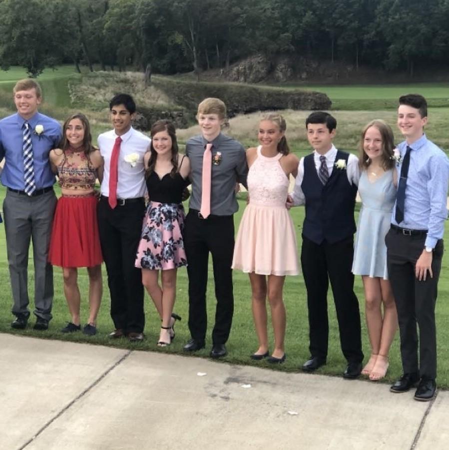 Senior Sarah Babka's homecoming group last year